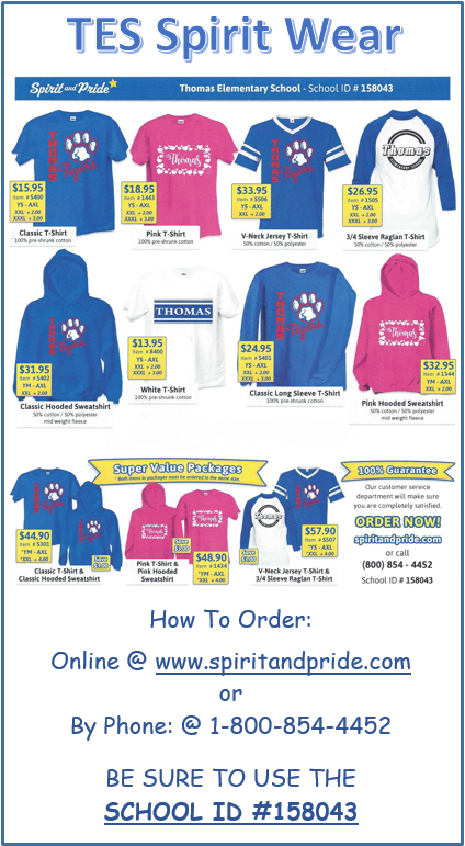 TES Spirit Wear